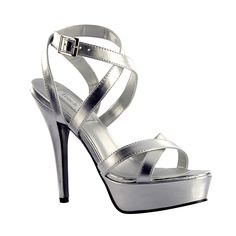 http://www.bellissimabridalshoes.com/trends/platform-wedding-shoes/Andrea-Silver-by-Touch-Ups  The Andrea Silver by Touch Ups. The silver metallic Andrea is the perfect style for any Bride's bachelorette party or just a night out with the girl