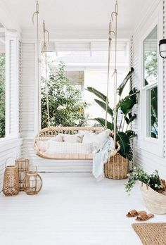 Outdoor Ideas For a Small Space: Create a Patio Lounge for Entertaining 3 Enthusiastic Cool Tips: Home Decor Wall Dollar Stores home decor ikea makeup storage.Home Decor On A Budget Contemporary home decor ikea makeup storage.Home Decor Cozy Small. Patio Swing, Balcony Swing, Tiny Balcony, Porch Swings, Balcony Railing, Farmhouse Kitchen Decor, Rustic Farmhouse, Scandinavian Home, Minimalist Scandinavian