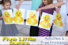 This Five Little Ducks on the Pond Gross Motor Activity will get your kids hopping and singing while learning to count to Gross Motor Activities, Animal Activities, Alphabet Activities, Toddler Activities, Preschool Activities, Preschool Family, Time Activities, Preschool Learning, Toddler Preschool