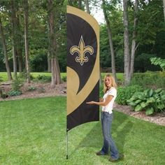 b0cb1b9c0 New Orleans Saints Embroidered Lawn & House 8.5' Tall Team Flag. Order  From