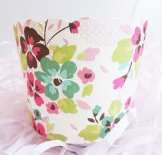 Colorful Floral Sunday Baking Cups for Cupcakes & Muffins  A beautiful floral print paper baking cup. Can be used for baking cupcakes & muffins or as favor cups as well! International shipping available. Visit site for more details!