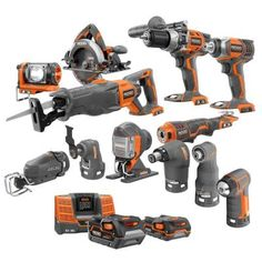 RIDGID 18-Volt Lithium-Ion Ultimate Contractor Kit (12-Piece)-R9670N at The Home Depot