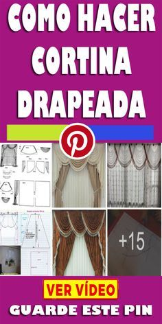 Ideas Para, Embroidery Designs, Curtains, Sewing, Home Decor, Singer, How To Make Curtains, Curtain Patterns, Elegant Curtains