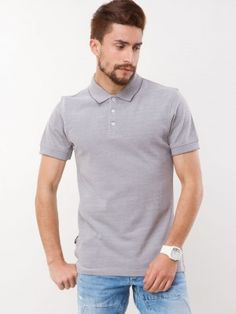 VOI JEANS Buttoned-up Polo Shirt buy form koovs.com Jeans Button, Polo Neck, Polo Shirt, T Shirt, Mens Tops, Stuff To Buy, Supreme T Shirt, Polos, Tee