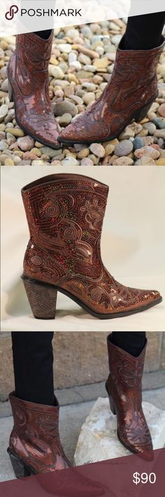 """Helen's Heart Sequin Bronze Boot Helen's Heart 