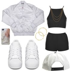 Untitled #101 by dianablvck on Polyvore featuring moda, Topshop, adidas Originals, Dinny Hall, Shashi and Brixton