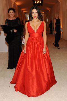 Kim Kardashian in a Celia Kritharioti dress at the Oscars