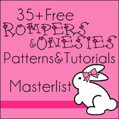 35+ FREE patterns and tutorials for rompers, onesies and some swimsuits! @Katy Riley