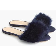 65eb241c4eca6 J.Crew Faux-Fur Slide Sandals ( 130) ❤ liked on Polyvore featuring shoes