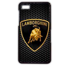 Lamborghini Logo Metal Carbon Blackberry Phonecase For Blackberry Q10 Blackberry Z10