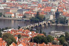 View from Observatory Tower, Prague, Czech Republic.