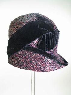 064ed146e4b3a Purple Dark-Blue Woven Wholestraw Hat
