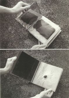 // Lygia Clark, sensorial book 1966