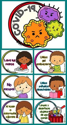 The Best Posters, Triptychs, Infographics and Tales about the Coronavirus. Informative posters for the school. Teaching Kids, Kids Learning, Teaching Spanish, Hand Washing Poster, Drawing Competition, Spanish Classroom, Teaching Materials, Cool Posters, Clipart