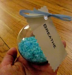 Perfect for your Pinterest: DIY bath salt recipe then put into clear ornaments for Christmas gifts!!