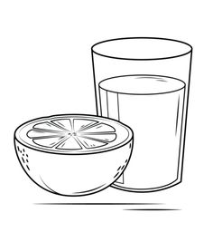 Click to see printable version of Grapefruit Juice Coloring page