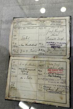 Work record card of Jan Kubiš found in his home during its restoration. We Will Never Forget, Paratrooper, Crazy Things, Prague, Restoration, Ss, Death, British, Army