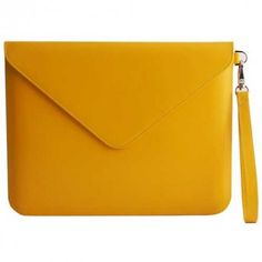Yellow Leather Tablet Envelope