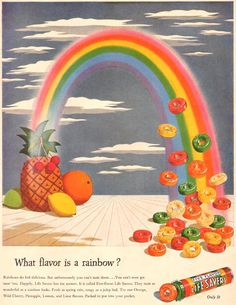 Life Savers What Flavor Is A Rainbow 1944 - www.MadMenArt.com   Through this…