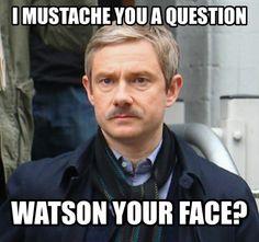 Sherlock TV series humour, Oh is that the time ? No more time to pin MUST DASH aka moustache ‼️ Drôle Sherlock Holmes, Sherlock Fandom, Jim Moriarty, Sherlock Humor, Sherlock Season, Supernatural Fandom, Johnlock, Benedict Cumberbatch, Sherlock Cumberbatch