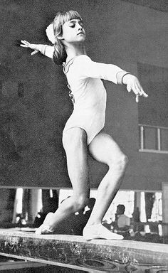This is how I remember her, watching her with my Daddy, all those years ago....Nadia Comaneci