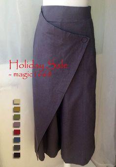 Loose Khaki Pants Wide Leg Linen Pants Women por Dressromantic