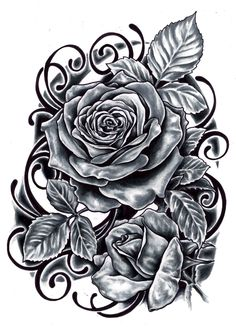 skull and black rose tattoo on arm