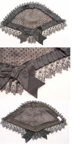 Civil War Era Lady's Lace Head Dress. This was generally worn over dressed hair for interior use, not worn in public on the street.