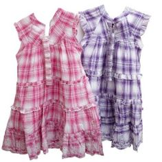 Girls Summer Wear Patterned Dress with Headband
