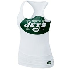 Prove your fanaticism and pay tribute to the Jets in an enormous way with this flattering Big Logo tank top by Nike.