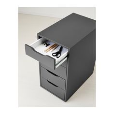 "ALEX Drawer unit - gray - IKEA Product dimensions Width: 14 1/8 "" Depth: 22 7/8 "" Height: 27 1/2 """