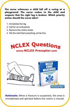 FREE Practice NCLEX questions for registered nurses. Get nursing tips to give… Nursing Study Tips, Nursing Books, Ob Nursing, Nursing Questions, Nclex Questions, Nursing School Notes, Nursing Schools, Nursing Students, Medical Students
