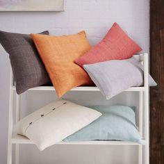 Silk Handloomed Lumbar Cushion Cover - Stone White