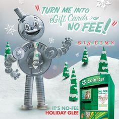 NO FEE Holiday Glee Coinstar Sweepstakes