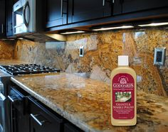Bring out the beauty of your granite and marble with Goddard's! Seal and protect your countertops from water spotting and stains. http://www.goddards.com/products/stone-cleaners-polishes/granite-marble-polish