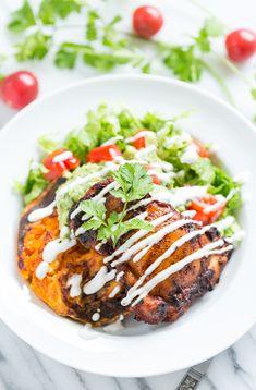 Ancho Chile Chicken Taco Bowls | GI 365