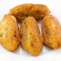 You searched for Croquetas - Divina Cocina Cuban Recipes, Veggie Recipes, Fish Recipes, Cooking Recipes, No Cook Appetizers, Fish And Meat, Brunch, Dairy Free Recipes, International Recipes