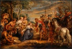 The Meeting of David and Abigail, 1630, Peter Paul Rubens  Size: 66x45 cm Medium: oil, panel