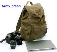 Canvas Camera Bag  Photography Backpacks  CSC by LeslieStudio, $66.99