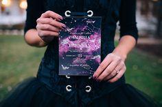 Galaxy and constellation wedding invitiation suite | Modern Wedding Invitation | Edgy Wedding Invitation