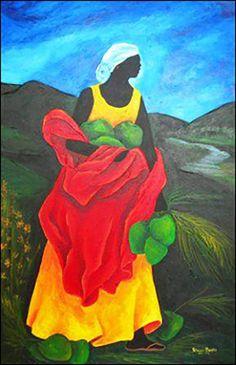 MedaliaArt - The Art of Haiti presents paintings by the Haitian artist Patricia Brintle. African American Art, Native American Art, African Art Paintings, Haitian Art, Cuban Art, African Theme, Caribbean Art, Tropical Art, Painting Gallery