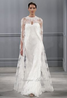 If the wedding world had a super hero, the caped crusader would undoubtedly be Monique Lhuillier (and her cape would be made of satin or lace, natch). Season after season, the designer uses her powers to create out-of-this-world wedding gowns, and her new Spring 2014 collection was nothing short of a feast for the eyes. Lhuillier's runway at Bridal Fashion Week was rich with... Read More