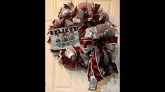 How to make a Double poof with 10in mesh Believe in the magic wreath - YouTube Deco Mesh Wreaths, 4th Of July Wreath, Believe, Diy Projects, Bows, Magic, Halloween, Youtube, How To Make