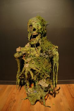 Colin W Laughlin Bucky Skeleton I Corpsed using Latex, Creepy Cloth, Paint, Moss and a couple of Fake Frogs