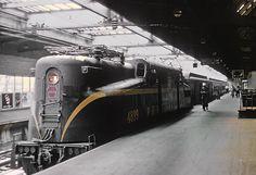 Pennsylvania Railroad GG-1 4899 at Newark, NJ in September 1964