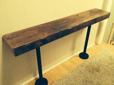 Reclaimed beam sofa table obo