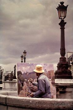 Peintre à Paris, Pont Neuf 1989  ©Pablo Munini