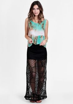 Minx Crocheted Lace Maxi Skirt 34.00 at a href=http://www.threadsence.com/minx-crocheted-lace-maxi-skirt-p-7604.html target=_blankthreadsence.com/a