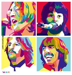 the beatles in wedha's pop art potrait