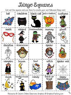 FREEBIE!  Halloween Create Your Own Luck Bingo Game!: